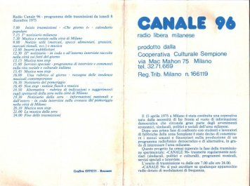 CANALE 96 3
